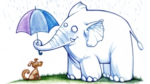 Elephant-Umbrella-Cartoon